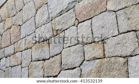 Rock wall texture  - stock photo