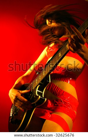 rock wave - stock photo