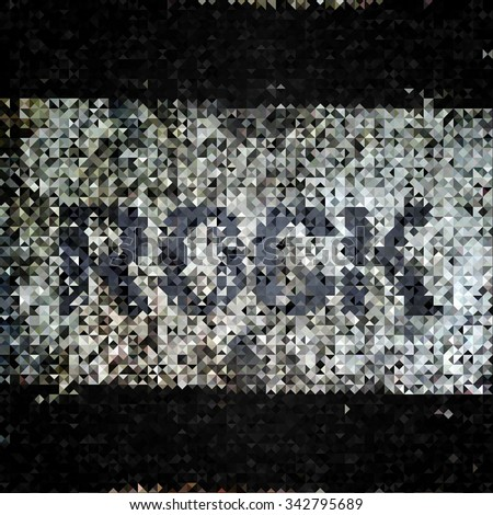 Rock word music background.
