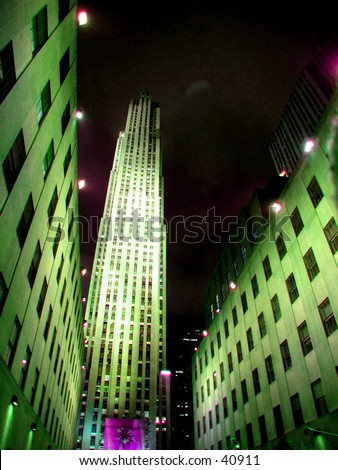 Rockefeller Center At night  View 1