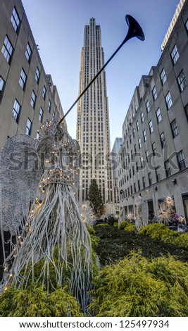Rockefeller Center is a complex of 19 commercial buildings covering 22 acres between 48th and 51st streets in New York City, United States
