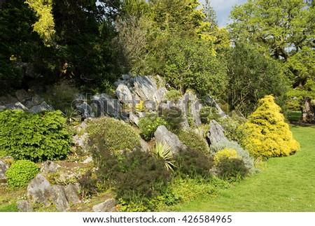 Rockery park in Ireland ( kerry country )  - stock photo