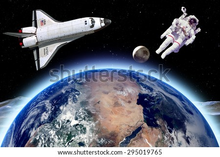 astronauts in space shuttle floating - photo #34