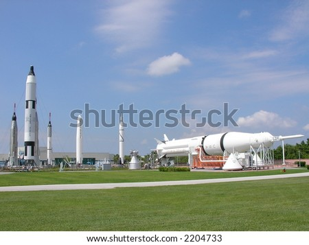 Rocket Garden at NASA - stock photo