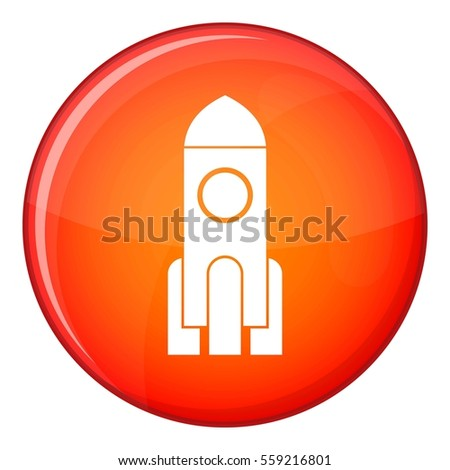 Red Rocket Icon Very Useful Ico...