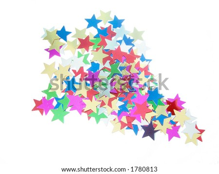 Rocket made out of star shapes - stock photo