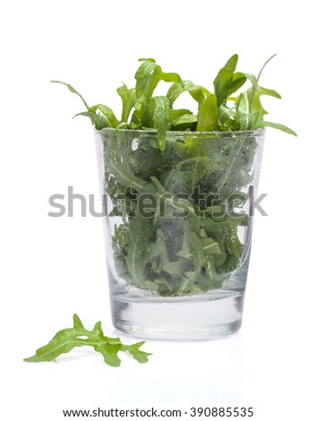 rocket salad in a glass