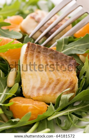 Rocket Salad with Tilapiini - stock photo