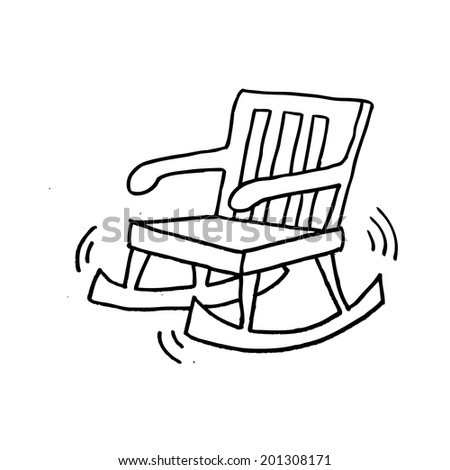 Chair Cartoon Drawing Rocking Chair Cartoon