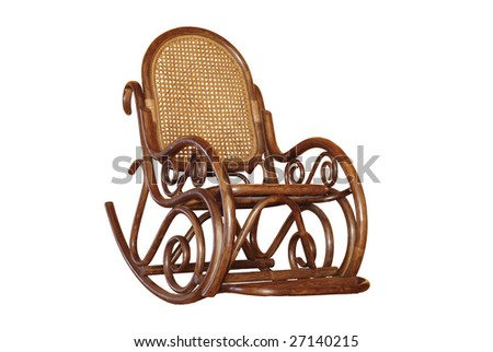 Rocking chair isolated 1 - stock photo
