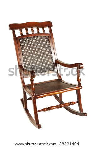 rocking chair isolated on white background