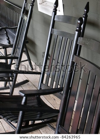 Rocking Chairs - stock photo