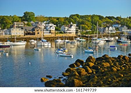 Rockport harbor, Massachusetts, USA - stock photo