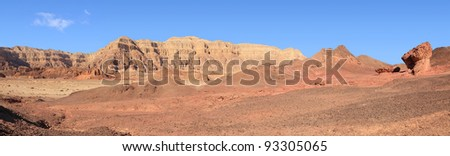 Rocks and desert in Timna national geological park (Israel) - stock photo