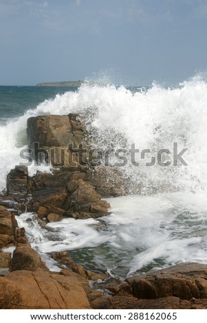rocks and island 14 - stock photo