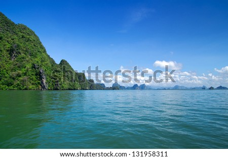 rocks and sea - stock photo