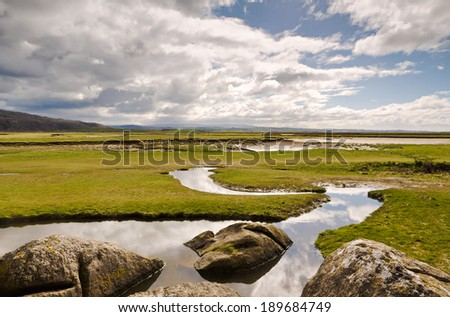Rocks and stream at Silverdale - stock photo