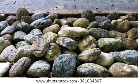 Rocks placed along coastal area they stock photo 381034807 rocks are placed along the coastal area they serve as an aesthetic function and importantly sciox Images