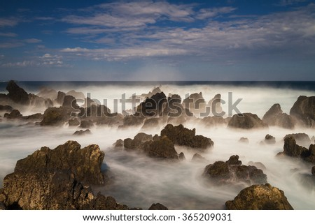 Rocks at Porto Moniz - Long exposure version, Madeira, Portugal