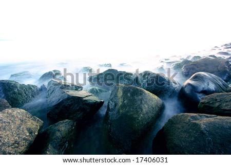 rocks at sea - stock photo