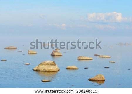 Rocks at the coast of Kasmu (captain's village), Estonia - stock photo