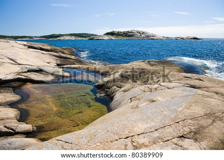 Rocks at the coastline - stock photo