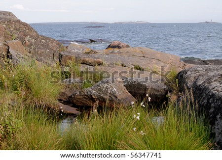 Rocks by the Baltic Sea - stock photo