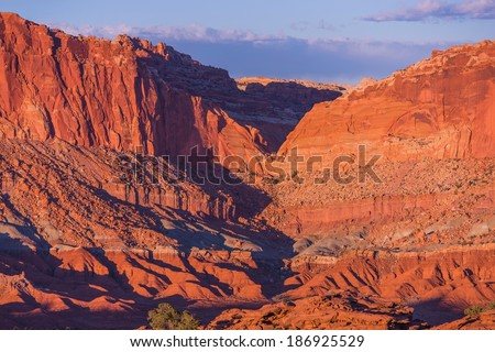 Rocks Formation in Capitol Reef National Park. Utah, United States.