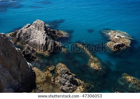 rocks in Almer���a (Spain) - stock photo