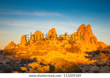 Rocks in Joshua Tree National Park, Mojave Desert, California - stock photo