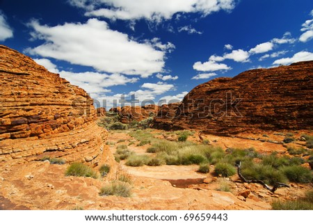 Rocks in Outback - stock photo
