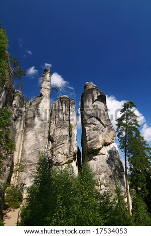 Rocks in the National park of Adrspach-Teplice rocks - Czech Republic/Europe - stock photo