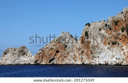 Rocks in the sea - stock photo