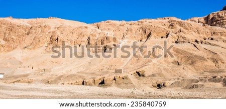 Rocks near the valley of the Kings near Luxor, Egypt