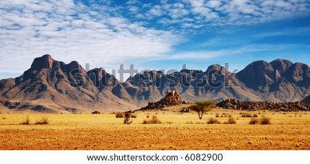 Rocks of Namib Desert, Namibia - stock photo