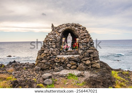 Rocks of the Easter Island, Chile - stock photo