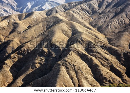 Rocks of the High Atlas Mountains. - stock photo