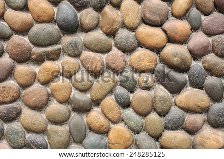 Rocks on wall, background textures - stock photo