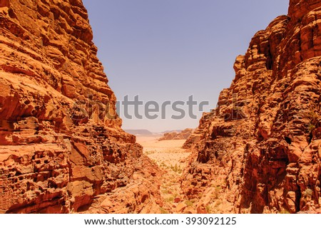 Rocks Wadi Rum, The Valley of the Moon,  southern Jordan.