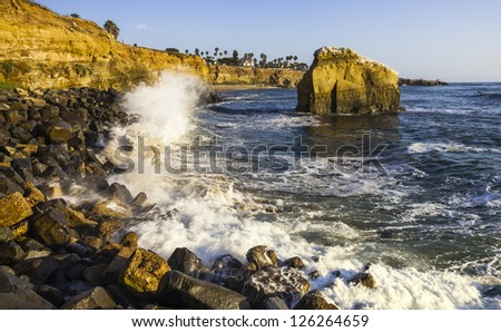 rocky beach in San Diego,California, USA