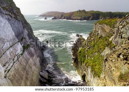 Rocky coast at Baltimore, Co. Cork - Ireland - stock photo