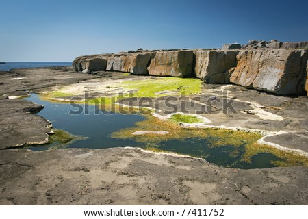 Rocky coast, Galway, Ireland - stock photo