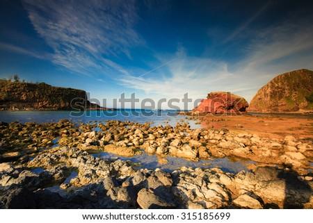 rocky coast in Phu Yen, Vietnam