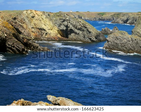 Rocky coast of Brittany, France