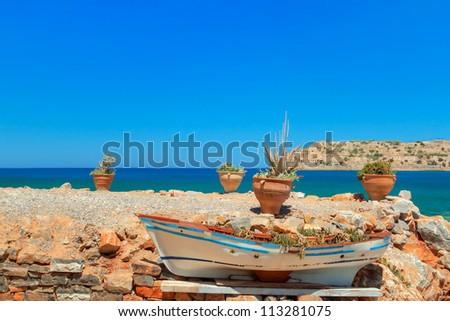 Rocky coast of Crete, Greece - stock photo