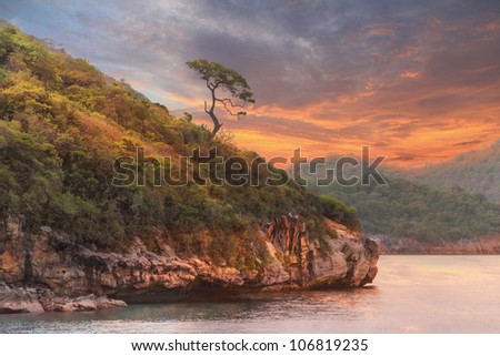rocky coast of Island in thailand - stock photo