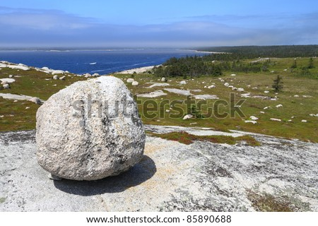 Rocky coast of Nova Scotia - stock photo