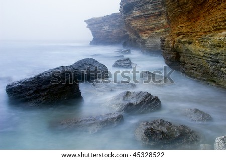 Rocky coastline - stock photo