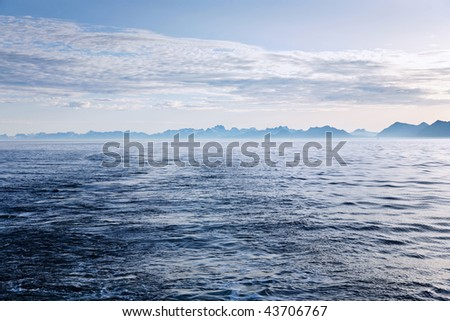 Rocky coastline in the horizon