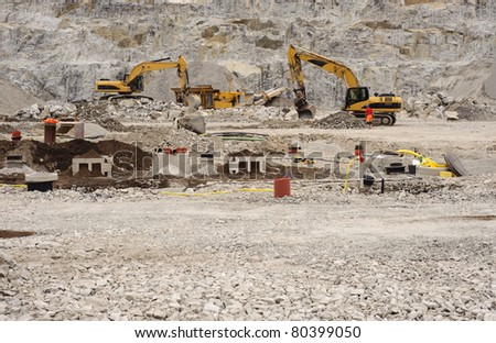 Rocky construction site - stock photo